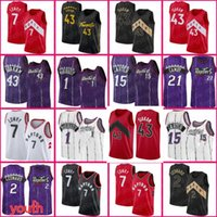 15 Carter Vince Jersey Torontos Pascal 43 Siakam Kyle 7 Lowry Tracy 1 McGrady Marcus 21 Camby Basketball Fred 23 Vanvleet Kawhi Hommes Leonard