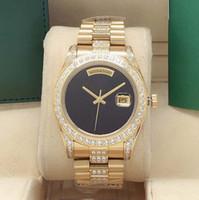 Orologio diamantato da uomo di alta qualità nuovo di vendita da 41mm da 41mm, quadrante Blank Automatic Mechanical Men Sport watch impermeabile