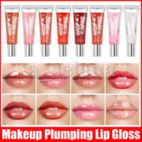 립 메이크업 보습 plumping 벨벳 lipgloss 반짝이 광택 립 글로스 plumper 영양가있는 액체 립스틱 미네랄 오일 8 색