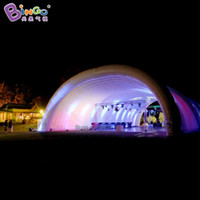 Custom feito 10x6x5 metros gigante tenda de tampa de palco inflável para festa de casamento dossel inflável durável para esportes do brinquedo do marquee do evento