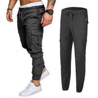 Pantaloni da uomo 2021 Cargo Casual Shorts Sport Gym Shirt Training Solid in 001