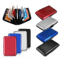 Wallets ID Credit Cards Wallet Holder Case Box Aluminum Meta...