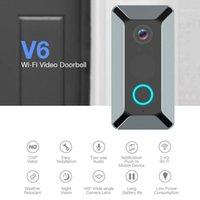 Kapı Zili HD 720 P Akıllı WiFi Video Kapı Zili Kamera Görsel Interkom Kızılötesi IP Kapı Bell Kablosuz Güvenlik V61