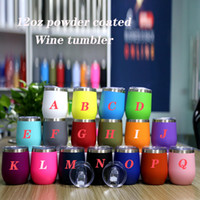 12oz Wine tumbler Stainless Steel Wine Glasses powder coated...