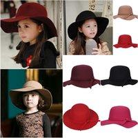 INS Bucket Hat Baby Hat Niños Caps Niños Niñas Caps Otoño Invierno Sol Niños Cap Cap Chicas gorras de lana gorra de lana de moda sombreros de ala