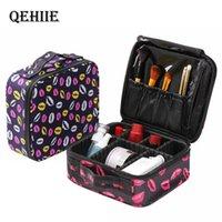 QEHIIE Professional Sacos Cosmético Caso Organizador Mulheres Travel Make Up Capacidade Grande Capacidade Malas de Cosméticos Para Maquiagem T200106