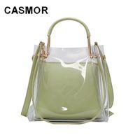 Casmor Summer Small Femme 2020 Nouveaux sacs à main coréenne Mode Sac à bandoulière Clear Sac Casual Femmes Sacs Q1118