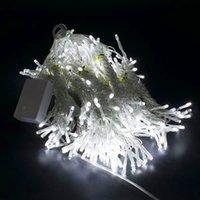 حار بيع 18 متر × 3 متر 1800-LED الدافئة الضوء الأبيض رومانسية عيد الميلاد الزفاف في الهواء الطلق الديكور ستارة سلسلة ضوء الولايات المتحدة القياسية بيضاء