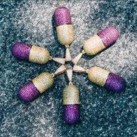 Topgrillz Açık Kolye Kolye Erkekler Buzlu Out CZ Zincirleri Hip Hop / Punk Altın Renk Charms Kolye Takı Parti Gifts1
