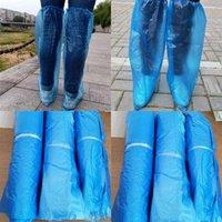 القابل للتصرف الأحذية يغطي سماكة الغبار والدليل على مكافحة الانزلاق شفافة القدم غطاء مريح خفيفة الوزن البلاستيك overshoes حار بيع أعلى 0 3yq e19