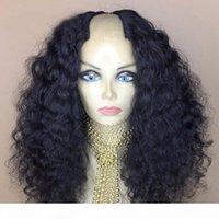 U جزء الباروكة 2x4 الافتتاح الأوسط للنساء موجة المياه 150 الكثافة البرازيلي ريمي الشعر البشري شاب شعر مستعار مع أشرطة كومز