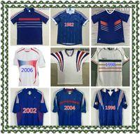 1996 1998 2010 Francescoli Zidane Retro Vintage Zidane Henry Maillot de Pie Soccer Jerseys Uniforms Football Jerseys Camisa Camisa de los hombres