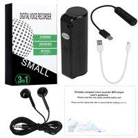 Hot Q70 8GB 16GB de gravador de voz de áudio de áudio mini gravador de voz oculto gravador de gravação profissional magnético Digital HD Detafone Denoise