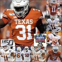 2020 Benutzerdefinierte Texas Longhorns 5 Bijan Robinson Sam Ehlinger Jersey Vintage # 10 Vince Young Earl Campbell Ricky Williams Texas Longhorns