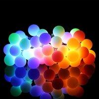 50 LED'ler Küçük Beyaz Topu Güneş Lambası 10 M Güç LED Dize Peri Işıkları Güneş Çelenk Bahçe Noel Partisi Dekor için Açık 201006