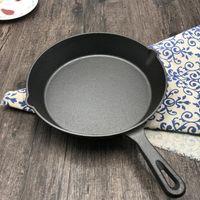 #Cast Eisen Bratpfanne Antihaft Unbeschichtetes Saucepan Ei Pancake Kochen Pan Home Küche Outdoor BBQ Pfanne (16 cm, 20cm, 26 cm) # 11