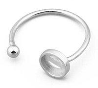 925 فضة خاتم الذهب قواعد فارغة تناسب 6 ملليمتر كابوشونات الحجاب إعدادات صينية diy مجوهرات صنع رجل امرأة حلقة الملحقات h jllryc