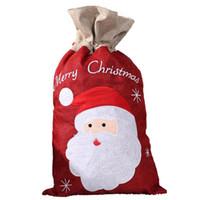 Sac-cadeau de Noël Santa Claus Santa Claus Sans sac Candy Apple Sac de rangement Packs Sacs-cadeaux de cordon de Noël YYB2971