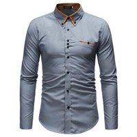 Homme occasionnel Shirts Chemise Chemise 2021 Hommes Marque Vêtements Mode Business social Camisa Masculina Convient Jeune à manches longues