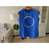 Diseñador para mujer T Shirts Tops Tops Tee Spring y de verano Camisetas T-shirts Suelta delgada Camiseta de manga corta Top Color sólido Rhhy Size S M L