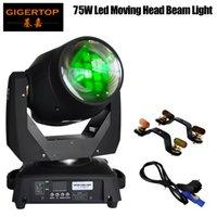 TIPTOP TP-L606A 2PCS / LOT 75W LED Moving Head Light DMX512 15 19 Kanaler Professionell LED-scenljus Super Beam Effect