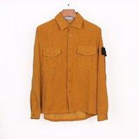 2021 Neues Design Kompass Abzeichen Cord-Stein Männer Casual Island Baumwollhemd Jacken Shirt Coats Männer 838305