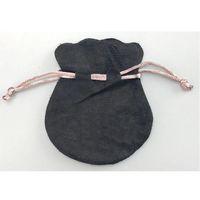 الوردي الشريط أسود أكياس المخملية تناسب الأوروبي باندورا نمط الخرز سحر وأساور القلائد مجوهرات الأزياء قلادة الحقائب