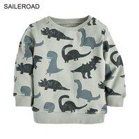 Saileroad Dinosaur Imprimir Little Boys O Cuello Sudaderas Otoño Finas sudadera para niños Sudaderas con capucha Ropa Niño Sudaderas