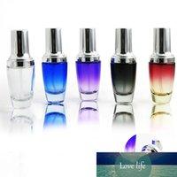 10 x 30ml portátil limpo roxo vermelho preto azul perfume de vidro azul com spray de bomba de loção fragrância de vidro recarregável