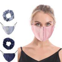 Cor pura corda de cabelo máscara 2 pçs / conjunto elástico faixa de faixa de inverno respirador de poeira quente pêlos anel de cobertura da boca 20 p2