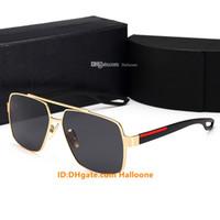 Hot 2021 diseñadores de moda Gafas de sol para hombres Mujeres Metal Vintage Gafas de sol Vintage Estilo cuadrado Sin marco UV400 Lente Caja original y caja
