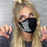 4 estilos bling bling rhinestone face máscara fashion crystal face reusável boca capa adulto nightclub máscara yya572