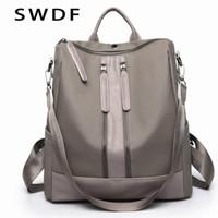SWDF Mode Frauen Rucksack Taschen für Frauen Reißverschluss Frauen Taschen Schultasche Für Mädchen Große Kapazität Weibliche Dame Reisetasche Sack