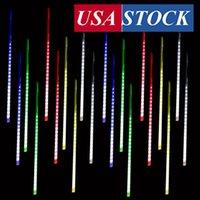 Meteor Douche Regenverlichting, 50 cm 10 Spiraalbuizen 480 LED's Waterdichte Drop / Icicle Snow Falling String Lights for Wedding Christmas Garden
