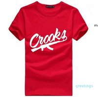 Crooks ve Kaleler T Shirt Erkekler Kısa Kollu Pamuk Adam T-Scrooks Mektubu Mens T Gömlek Tee Gömlek Tops