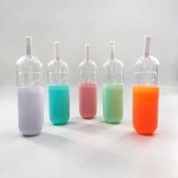 Kapsel Klar Kleine Flaschen für 15mm-23mm Streifen Mink Wimpern Custom Private Label Leere Verpackung Wimpern Verkäufer
