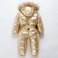 1111 العلامة التجارية orangemom روسيا الشتاء -30 درجة أسفل jacke الأطفال كبير الراكون الفراء الملابس بنين بنات سترة واقية الدافئة السروال القصير 201203