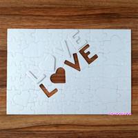 Süblimasyon Boş Parti Favor Jigsaw Puzzle A4 Aşk Inci Işık Beyaz Baskı Karton Kalp Şeklinde Çocuk Yetişkin Yardımı Zeka 2 4xj M2