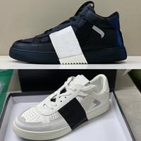 Designer VL7N CALFSKIN Lace-up Sneakers Herren Frauen Luxus Plattform Trainer High Top und Niedrige Spitzenwohnungen Freizeitschuhe mit Box 35-46 265