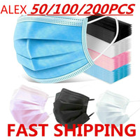 must-have disposable masks dust-proof breathable protective masks black non-woven three-layer adult masks with melt-blown nonwovens