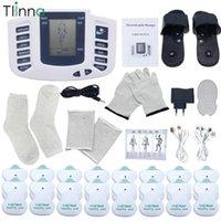 EMS 바디 전기 근육 자극 탱크 찌르기 슬리밍 마사지 16 패드 디지털 치료 뒷 넥 뒷면 건강 관리 1