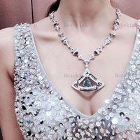 Hezekiah Big skirt luxury necklace High quality luxury ladies necklace Dance party Ladies and ladies Temperamentt Inlaid with AAA zircon