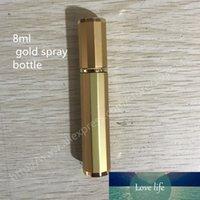 Heißer Verkaufs-200Pcs / lot 8 ml Glasflaschen-Spray, 8CC Glas Parfüm-Flasche mit Gold Shell, Klein-Reisen Verpackungsbehälter
