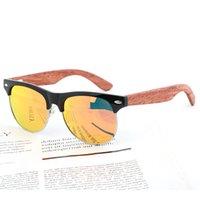 Женщина Деревянные Солнцезащитные очки Поляризованные Новые ПК Рама + Деревянные Ноги Мода Солнцезащитные Очки Мужские Очки Handmade Eyewear