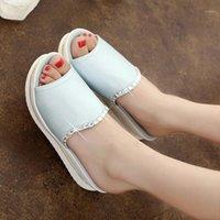 Hengsong Летняя девушка PU кожаные сандалии слайды женщин платформы тапочки сандалии обувь клинья платформы обувь с кристаллом TR8645411