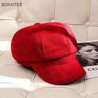 베레렛 여성 모자 가을 여자 베레모 모자 세련된 레트로 BF 스타일 세련된 순수 기질 레이디 성인 매력 대학