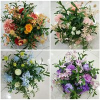 8Color Silk Flower Ball Flowe Rack For Wedding Centerpiece Home Room Decoration Party Supplies DIY Road Lead Craft Flower