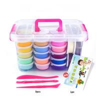 36Cores Crianças Polímero Clay Super Luz DIY Modelagem Clay Slime Soft Inteligente Plasticine Aprendendo Educação Brinquedo Para Crianças 201226