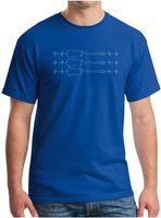 Männer EKG Love Ballet Notes Music Gitarre EKG Kunst Paar Kurzarm Rundhalsausschnitt T-shirts Mann Frauen Mode Roman Casual Sportswear