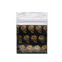 Sacs d'emballage Sacs en plastique Sac à scellés Noir Sac à scellé Sac à tabac de tabac Sac de rangement de tabac 30 * 34mm Pochette de tabac